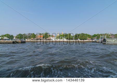 Boat Travel On The Chao Phraya River