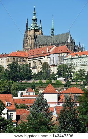 Old city architecture of Prague, Czech Republic