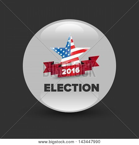 United States Election Vote Badge with star and ribbon