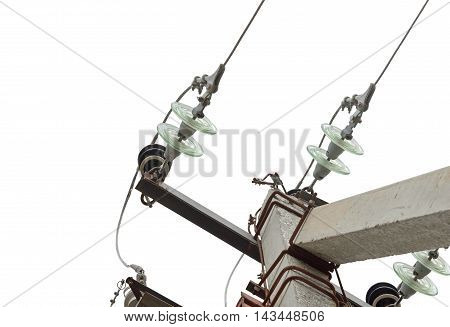 the Electrical tower on a white background