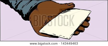 Palm Holding Blank Envelope