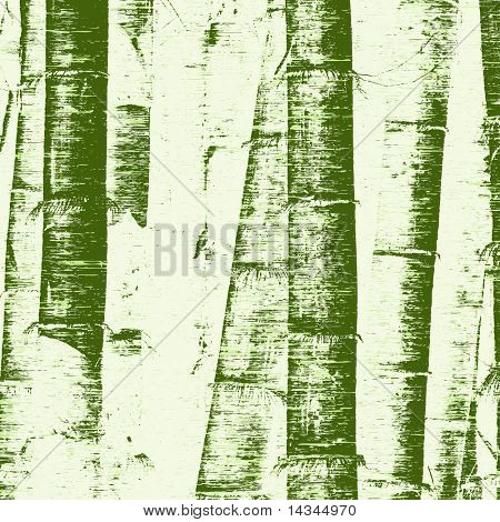 Illustration of bamboo stems and grunge