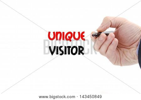 Unique visitor text concept isolated over white background