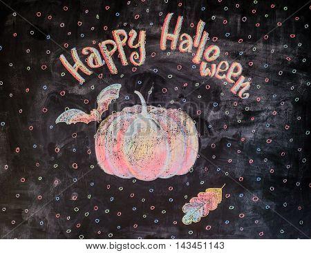 Chalk Picture Happy Halloween