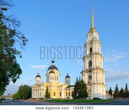 RYBINSK RUSSIA - JULY 21 2016: Saviour Transfiguration Cathedral (built in 1838-1851) Rybinsk Russia