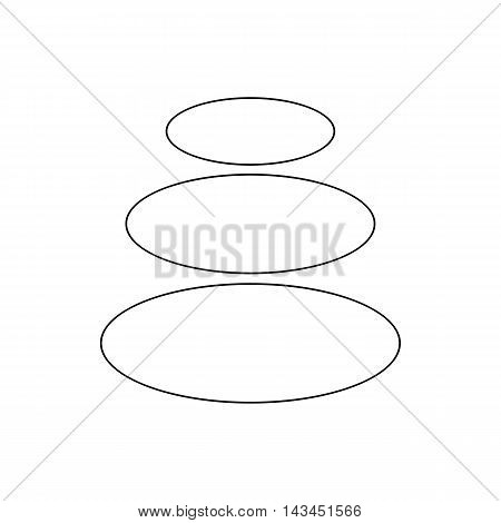 Spa stones for relax procedure icon in outline style isolated on white background
