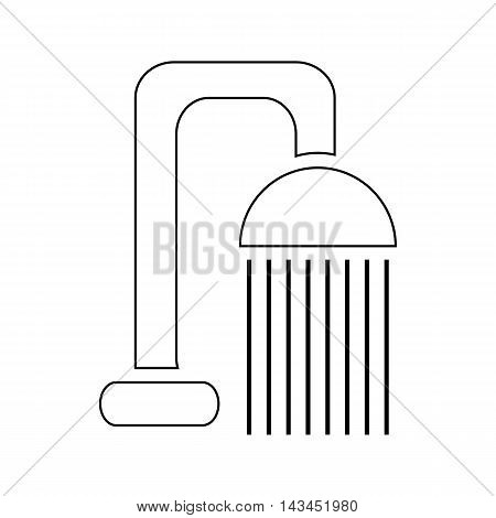 Shower spray icon in outline style isolated on white background