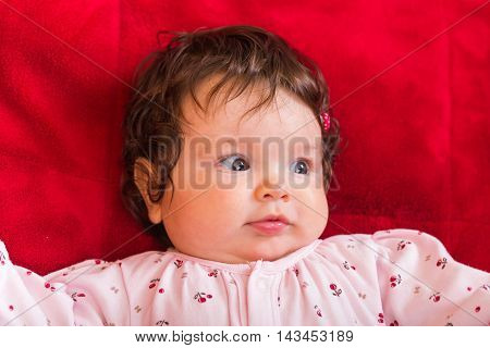 Portrait of adorable few months old baby