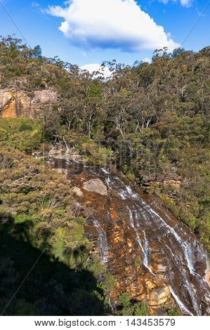 Wentworth Falls Waterfall View From Above