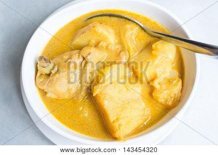 Chicken Massaman Curry ( Yellow Curry ) Thai food
