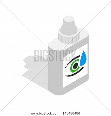 Eye drops icon in isometric 3d style isolated on white background. Vision symbol