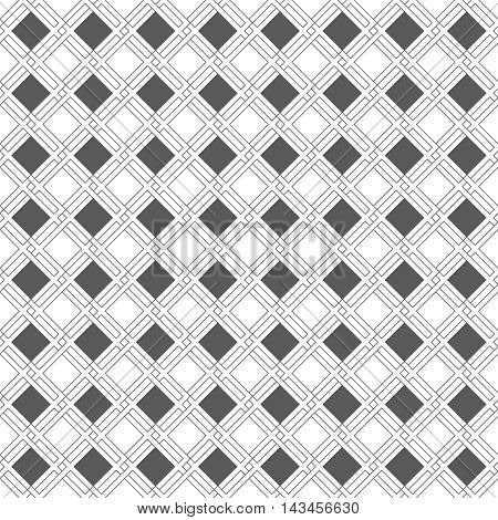 Seamless pattern. Geometrical modern stylish texture. Regularly repeating classical tiles with rhombuses diamonds thin lines. Vector element of graphical design