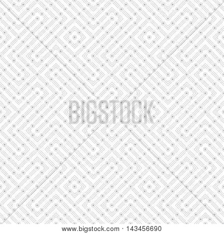 Seamless pattern. Modern stylish texture with thin lines dots. Regularly repeating geometrical tiles with linear dotted zigzags rhombuses diamond. Vector abstract background