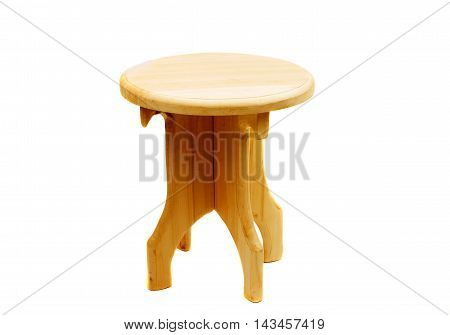 retro wooden chair on a white background