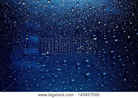 Drops Of Rain On The Window. Water Rain Drops On Glass Window
