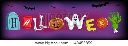 Halloween Typo , Typeface,  vector , Illustration