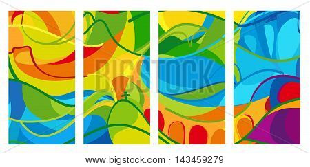 Set of Olympics pattern. Abstract colorful background in Brazil summer athletic games color. Paralympic Games Rio de Janeiro. 2016. Holiday summer Vector illustration. Rio carnival party. Kids Camp sport.