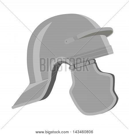 Vector illustration roman helmet. Ancient helmet icon