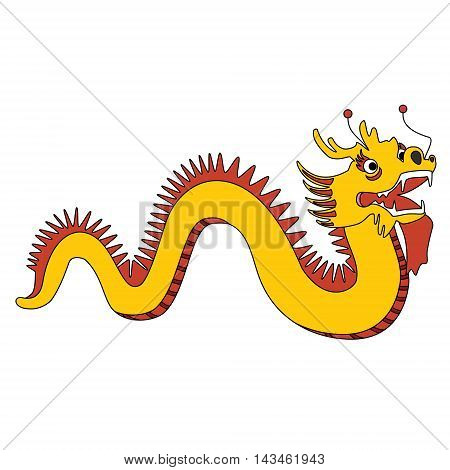 Vector illustration traditional chinese dragon. Chinese New Year celebration.