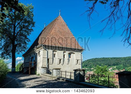 Ironsmiths' Tower in Sighisoara town in Romania