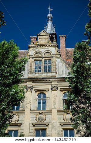 Town Hall in Sighisoara town in Romania