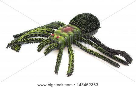 Spider Toy On White Background