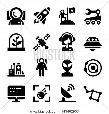 Space icons set Vector illustration graphic design