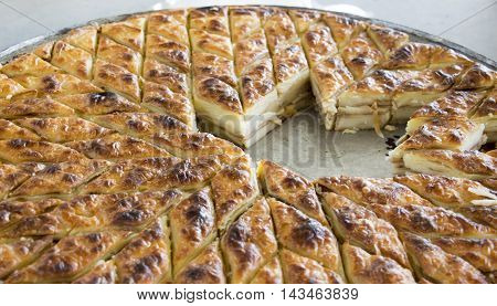 traditional homemade pastry called gomleze in macedonia