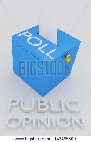 Public Opinion Poll Concept