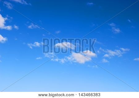 background of the blue sky and some clouds