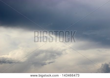 background of the blue sky and some Steel clouds before rain
