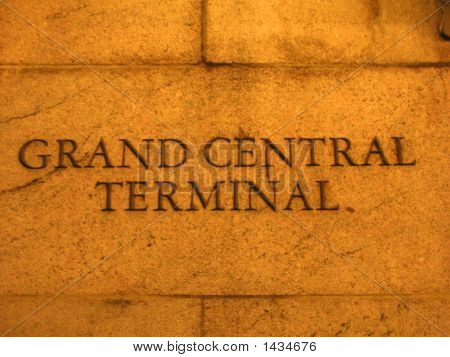 Detail Of The Grand Central Terminal Wall, Rail Station, New York