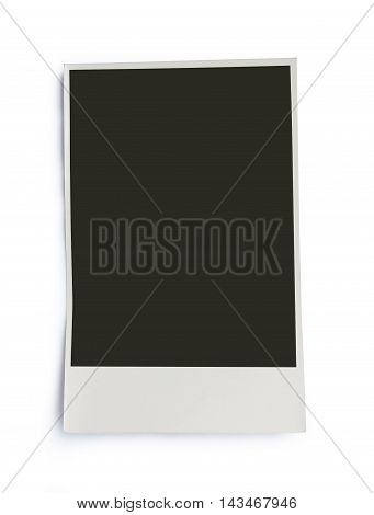 Vintage photo with blank space. old photography, isolated on white with copy space.