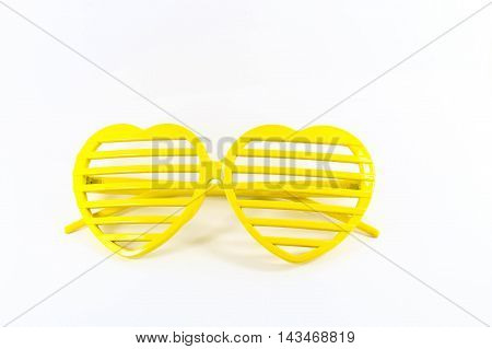 Fashion  a yellow Eyewear on White background