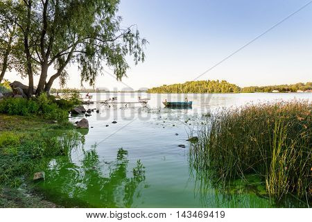 Fisherman On The Dnieper River