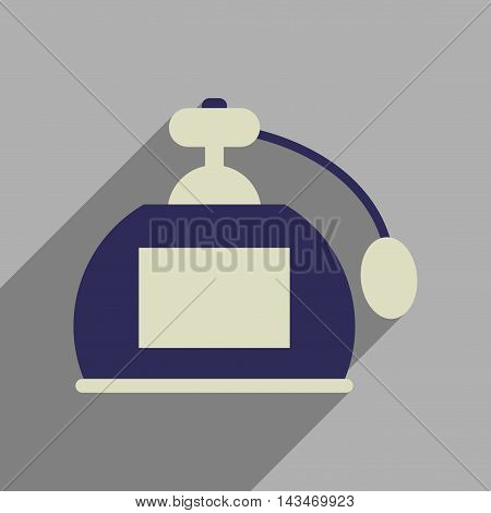 Flat web icon with long  shadow perfume
