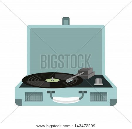 old music player isolated icon vector illustration design