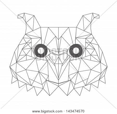 low bird low poly isolated icon vector illustration design
