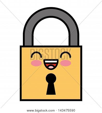 safe secure padlock security isolated icon vector illustration design
