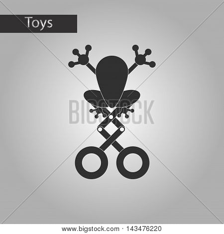 black and white style Kids toy frog