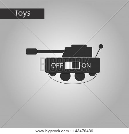 black and white style Kids toy tank
