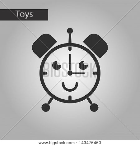 black and white style Kids toy alarm clock