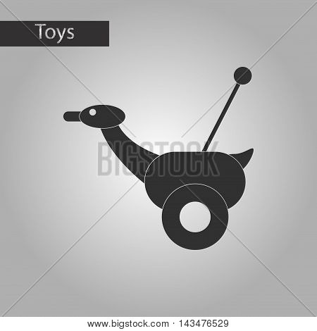 black and white style Kids toy duck