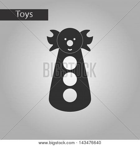 black and white style toy kid clown