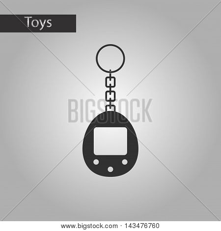 black and white style Kids toy retro electric