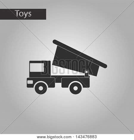 black and white style Kids toy truck