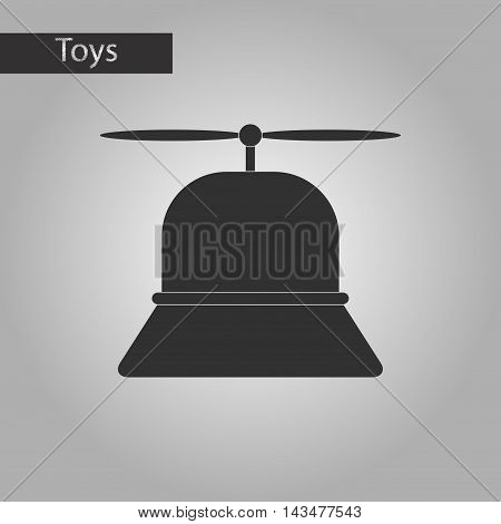 black and white style Kids toy helicopter