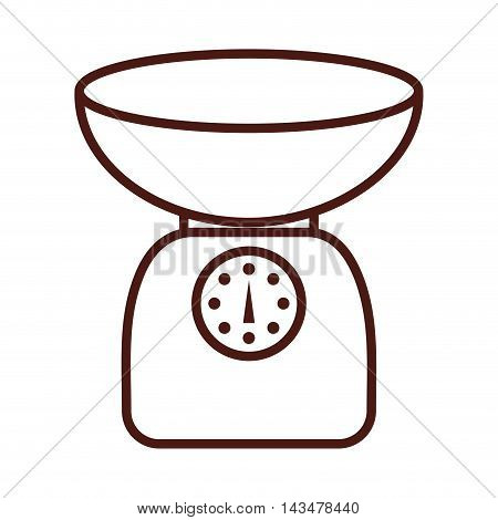 gram scale kitchen isolated icon vector illustration design
