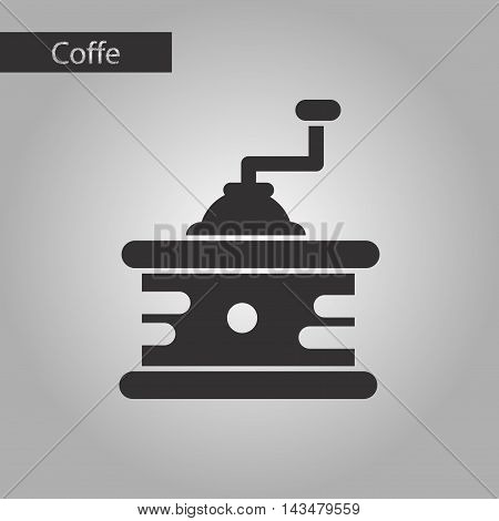 black and white style icon coffee mill grinder