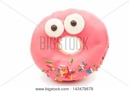 creative donuts food on a white background